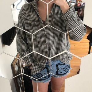 Sweaters - VINTAGE Gingham/Houndstooth flannel